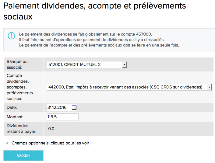 Comptabilisation des interets des comptes courants associes-ecran2